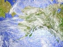 L'Alaska sur le modèle réaliste de la terre Photos libres de droits