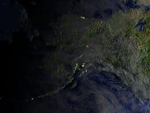 L'Alaska sur le modèle réaliste de la terre Photo stock