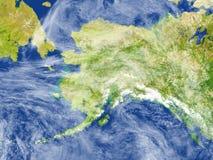 L'Alaska sur terre de planète Photographie stock libre de droits