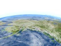 L'Alaska sur terre de planète Images libres de droits