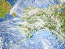 L'Alaska sur terre de planète Photos libres de droits