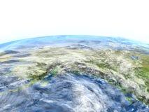 L'Alaska sur terre de planète Image stock