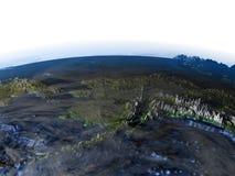 L'Alaska sur terre - fond océanique évident Photo stock