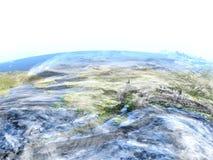 L'Alaska sur terre - fond océanique évident Images libres de droits