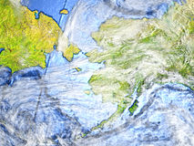 L'Alaska sur terre - fond océanique évident Image libre de droits