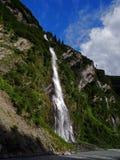L'Alaska Thompson Pass Waterfall fotografia stock libera da diritti