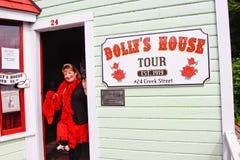 l'Alaska - visite de la Chambre du chariot de rue de crique Image stock