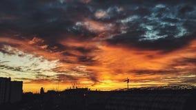 L'alba è su Fotografie Stock