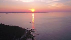 L'alba aerea 2017 di Maine Acadia National Park July 4K ispira 2 video d archivio