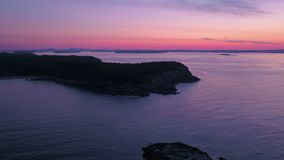 L'alba aerea 2017 di Maine Acadia National Park July 4K ispira 2 archivi video