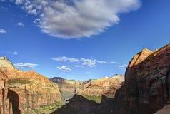 L'alba al canyon trascura Zion National Park Fotografie Stock