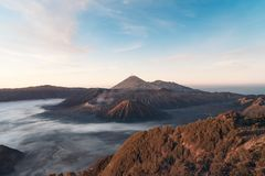 L'alba del vulcano di Bromo, colpo in Java, indunesia immagini stock libere da diritti
