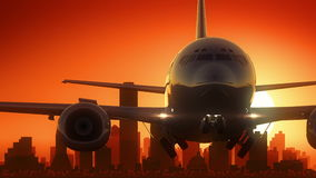 L'alba dell'orizzonte di Dallas Texas U.S.A. America decolla illustrazione di stock