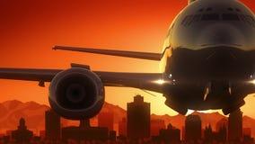 L'alba dell'orizzonte di Salt Lake City Utah U.S.A. America decolla Immagine Stock