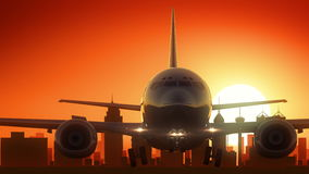 L'alba dell'orizzonte di San Antonio Texas U.S.A. America decolla Immagine Stock Libera da Diritti