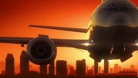 L'alba dell'orizzonte di San Diego California U.S.A. America decolla Immagini Stock Libere da Diritti