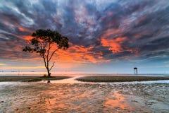 L'alba dentro va mare di Cong Immagine Stock