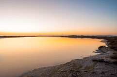 L'alba dorata Immagine Stock