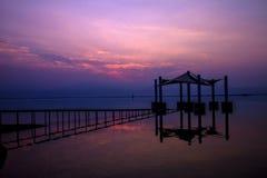 L'alba molto speciale del mar Morto immagine stock