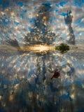 L'alba si appanna, vetro appannato diretto ondulato traslucido Immagine Stock Libera da Diritti