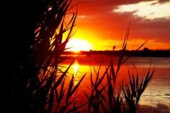 L'alba sopra gradice Fotografie Stock