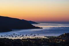 L'alba sull'isola di Elba (Toscana, Italia) Fotografie Stock Libere da Diritti