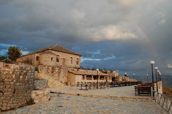 L'Albania, Saranda, Lekursi Fotografie Stock Libere da Diritti