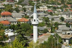 l'Albanie, Gjirokaster, minaret Photo stock