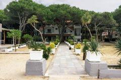 l'albanie Golem Maison d'hôtes sur la côte adriatique Photographie stock