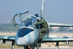 41112 L-39 Albatros da força aérea tailandesa real Imagem de Stock