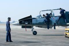 41132 L-39 Albatros de l'Armée de l'Air thaïlandaise royale Photo libre de droits