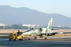 41132 L-39 Albatros de l'Armée de l'Air thaïlandaise royale Image libre de droits