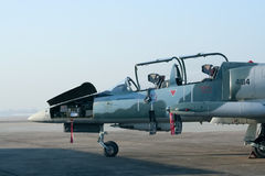 41114 L-39 Albatros de l'Armée de l'Air thaïlandaise royale Photos libres de droits