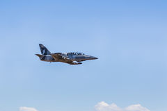 L-39 albatros fighter jet  flying Stock Photography