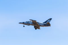 L-39 albatros fighter jet  flying Royalty Free Stock Photo