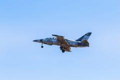 L-39 albatrosvechter het straal vliegen Royalty-vrije Stock Foto