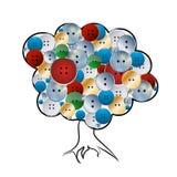 L'albero dei bottoni Fotografie Stock