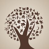 L'albero dei pensieri Fotografia Stock