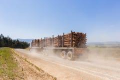 L'albero del camion registra le montagne Fotografie Stock