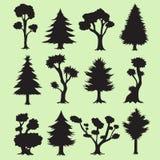 L'albero del fumetto profila la raccolta Immagini Stock