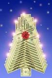 L'albero dell'nuovo anno del dollaro Immagine Stock Libera da Diritti
