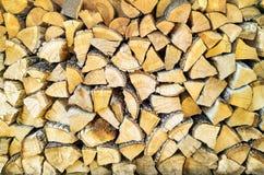 L'albero di legno collega la pila immagine stock