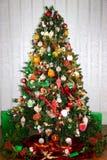 L'albero di Natale della famiglia Immagini Stock Libere da Diritti