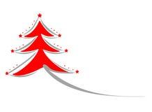 L'albero di Natale di vettore complimenta il fondo della carta Fotografia Stock Libera da Diritti
