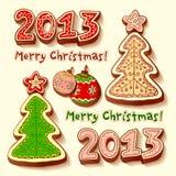 L'albero di Natale ed il cioccolato miele-agglutina Immagine Stock