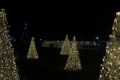 L'albero di Natale fatto dalle luci immagine stock libera da diritti