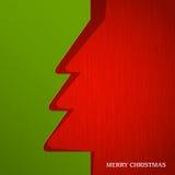 L'albero di Natale ha tagliato su documento Fotografia Stock
