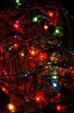 L'albero di Natale illumina la priorità bassa Fotografie Stock
