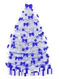 L'albero di Natale isolato sopra 3d bianco rende Fotografia Stock Libera da Diritti