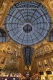 L'albero di Natale nella galleria Vittorio Emanuele immagini stock libere da diritti